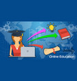 long background online education vector image