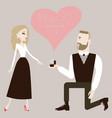 man making a proposal to his woman