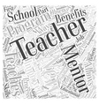 mentoring teachers Word Cloud Concept vector image vector image