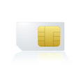 mobile cell phone sim card vector image vector image