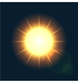 modern sun background sunshine design vector image vector image