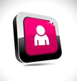 Person 3d square button vector image vector image