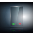 phone with a transparent body on a dark background vector image vector image