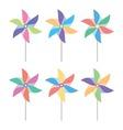pinwheel set vector image