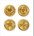 premium quality golden labels collection 3 vector image vector image