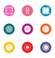 prepare icons set flat style vector image