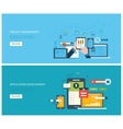 Project management and application development vector image vector image