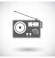 Radio single icon vector image vector image