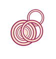 Red Onion Slices vector image vector image