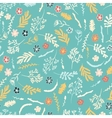 Seamless floral pattern on dark brown background vector image vector image