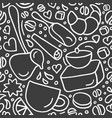 seamless pattern aroma natural coffee sweet vector image