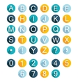 Set Alphabet Icons vector image