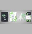 set botanical retro wedding invitation card vector image
