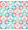 set of 16 social icons includes speaking people vector image vector image