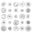 Set of abstract hud elements isolated on white vector image vector image