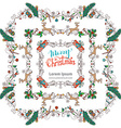 Set of Christmas vintage frames vector image vector image
