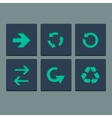 Simple green stamp flat arrow icons set Web vector image vector image