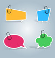 speech bubbles pin clip icon dialog box info vector image vector image