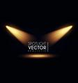 spotlight transparent light effect show design vector image vector image