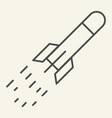 startup launch thin line icon rocket launch vector image