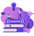study and education concept vector image