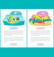 summer holiday and vacation on sea banner vector image vector image