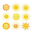 sun emoji funny summer sunshine sun baby happy vector image vector image