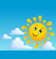 sun theme image 4 vector image