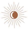 sun with rays symbol sunshine and warm energy vector image