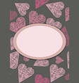 template for postcardinvitation with hearts vector image vector image