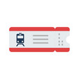 train ticket flat isolated vector image vector image