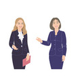 two business women flat vector image vector image