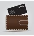 wallet and bank card eps10 vector image