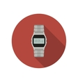 Watch flat icon vector image vector image
