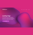website landing page with an abstract design vector image vector image