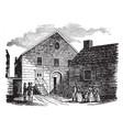 wesley chapel on john street vintage vector image vector image