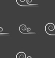 Wind icon sign Seamless pattern on a gray