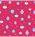 winter holidays seamless background with vector image vector image