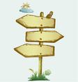 Wooden arrow board vector image vector image