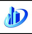 building cityscape construction logo vector image