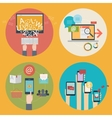 set of flat design concept icons for blogging web vector image