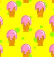 Vanilla ice cream seamless pattern Cold milk pink vector image