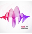 abstract colorful wave vector image vector image