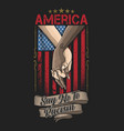 america say no to racism campaign vector image