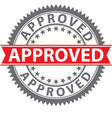 approved stamp certified badge vector image vector image