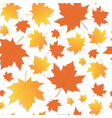 autumn seamless pattern background yellow maple vector image vector image