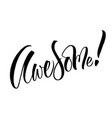 avesome lettering vector image vector image