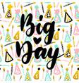 big day postcard design vector image vector image