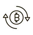 bitcoin exchange financial business stock market vector image