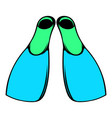 blue flippers icon icon cartoon vector image